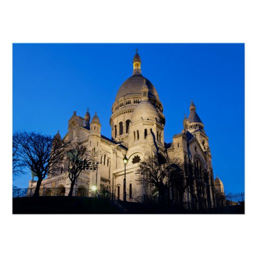 Sacre Coeur during twilight Poster