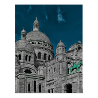 sacre coeur in france postcard