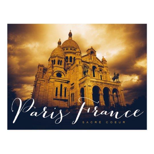 sacré coeur in paris france postcard