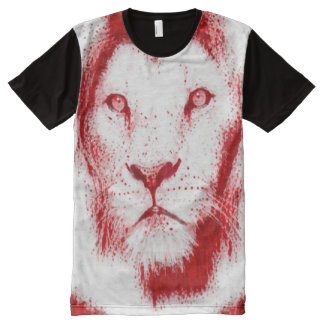 Sacred Blood Lion Spirit Painting All-Over Print T-Shirt