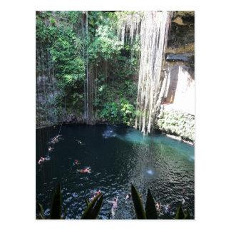 Sacred Blue Cenote, Ik Kil, Mexico #2 Postcard