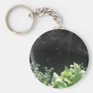Sacred Blue Cenote, Ik Kil, Mexico #3 Key Ring
