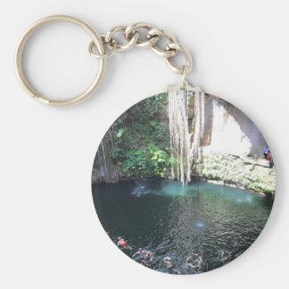 Sacred Blue Cenote, Ik Kil, Mexico #4 Keychain