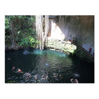 Sacred Blue Cenote, Ik Kil, Mexico #4 Postcard