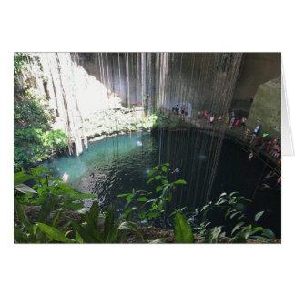 Sacred Blue Cenote, Ik Kil, Mexico Card