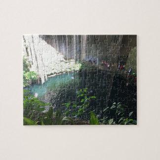 Sacred Blue Cenote, Ik Kil, Mexico Jigsaw Puzzle