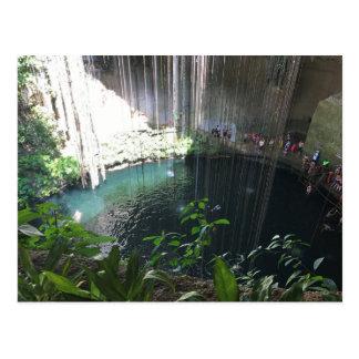 Sacred Blue Cenote, Ik Kil, Mexico Postcard