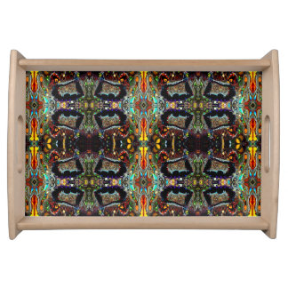 Sacred Bow Yoga Pose Serving Tray by Deprise