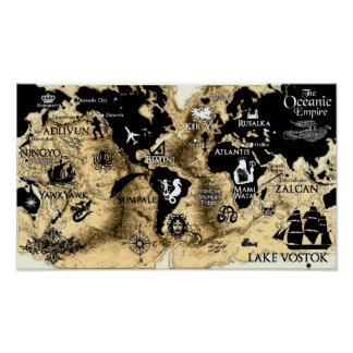 Sacred Breath Series World Map Poster