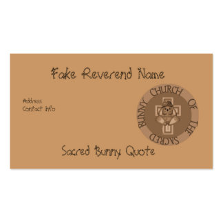Sacred Bunny Church Pack Of Standard Business Cards