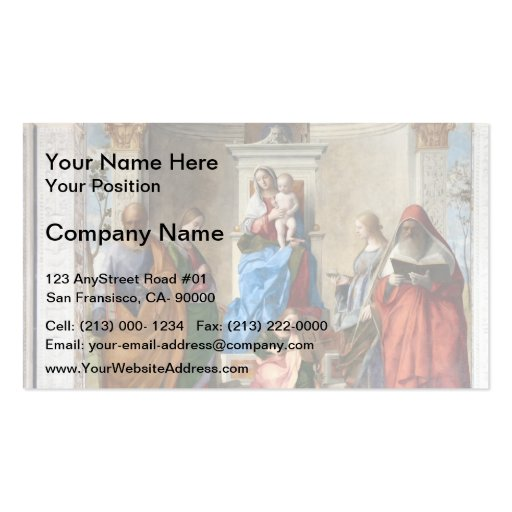 Sacred Conversation by Giovanni Bellini Business Cards