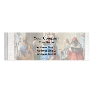 Sacred Conversation by Giovanni Bellini Business Card