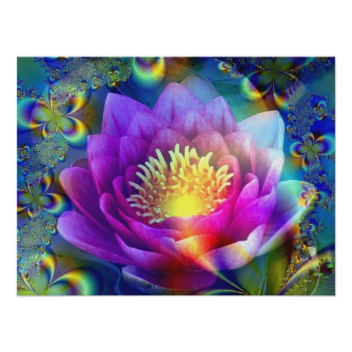 Sacred Flower of Love & Peace - Poster