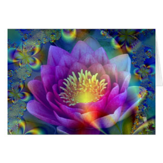 Sacred flower of Peace and Love Greeting Cards