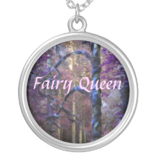 Sacred Forest Queen Round Pendant Necklace