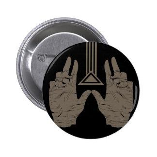 Sacred Geometry 6 Cm Round Badge