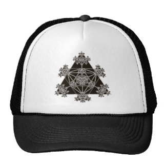 Sacred Geometry: Black Triangles: Trucker Hats