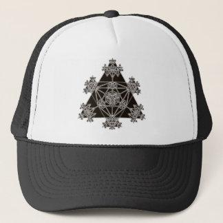 Sacred Geometry: Black Triangles: Trucker Hat