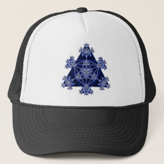 Sacred Geometry: Blue Triangles: Trucker Hat
