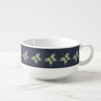 "Sacred geometry ""Butterfly"" Soup Mug by Mar"