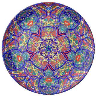 "Sacred Geometry ""Chavela"" Porcelain Plate by MAR"