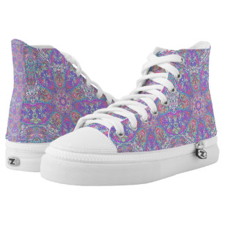 """Sacred Geometry """"Chess Queen"""" High tops by MAR"""