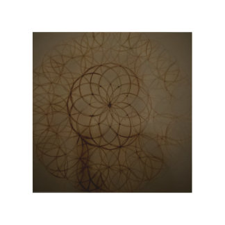 Sacred geometry flower circle wood canvases