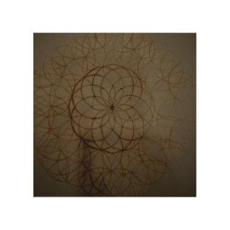 Sacred geometry flower circle wood wall art