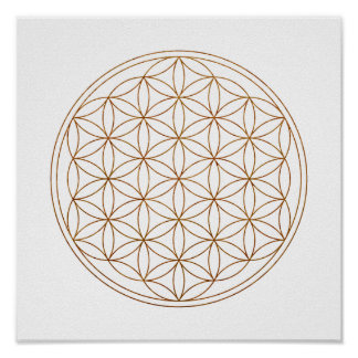Sacred Geometry Flower Of Life (V-Henna) Poster