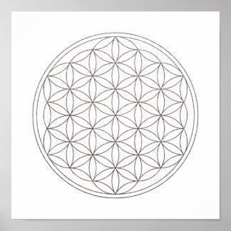 Sacred Geometry Flower Of Life (V-Smoke) Poster