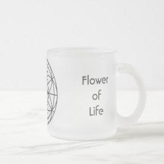 Sacred Geometry Frosted Glass Mug