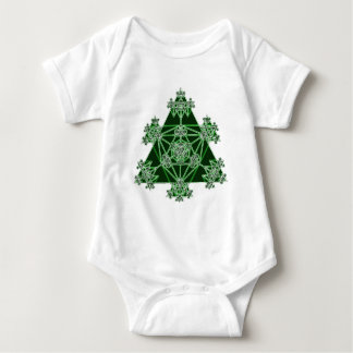 Sacred Geometry: Green Triangles: Baby Bodysuit