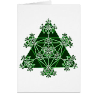 Sacred Geometry: Green Triangles: Card