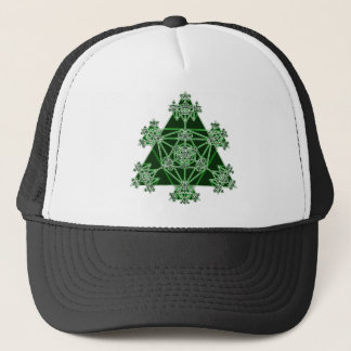 Sacred Geometry: Green Triangles: Trucker Hat