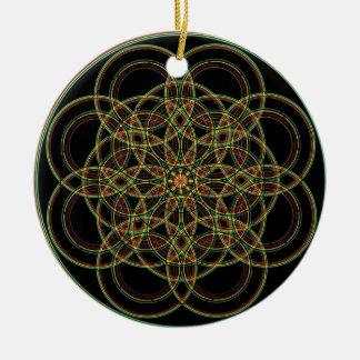 Sacred Geometry -Hand Drawn Christmas Ornament