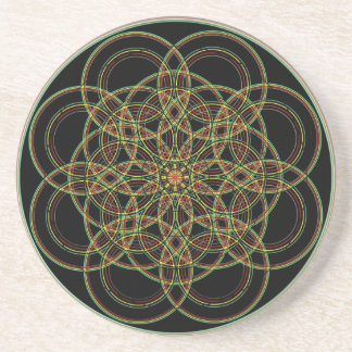 Sacred Geometry -Hand Drawn Drink Coaster