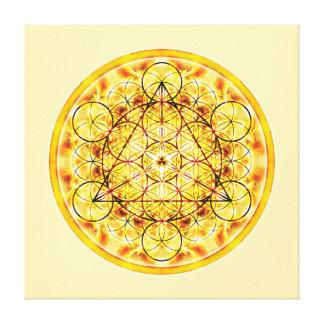 Sacred Geometry Mandala 2 Stretched Canvas Print