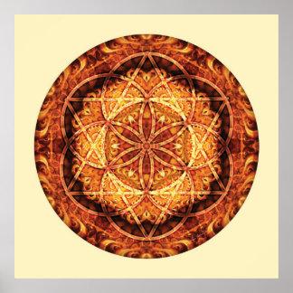 Sacred Geometry Mandala 3 Poster