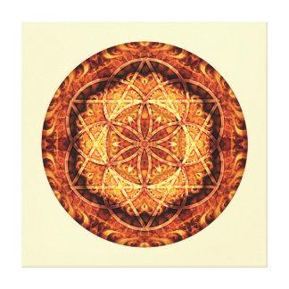 Sacred Geometry Mandala 3 Stretched Canvas Print
