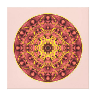 Sacred Geometry Mandala 4 Stretched Canvas Print