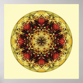 Sacred Geometry Mandala 6 Poster