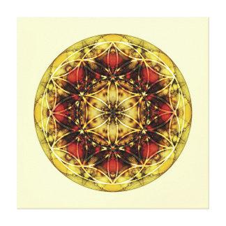 Sacred Geometry Mandala 6 Stretched Canvas Print