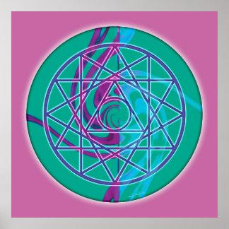 Sacred Geometry Mandala 7 Poster