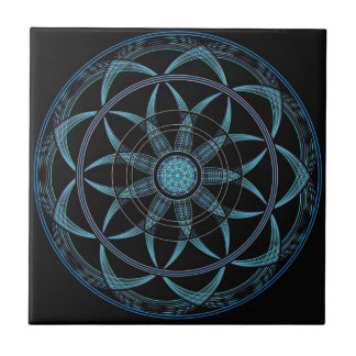 Sacred Geometry Mandala - Bliss Small Square Tile