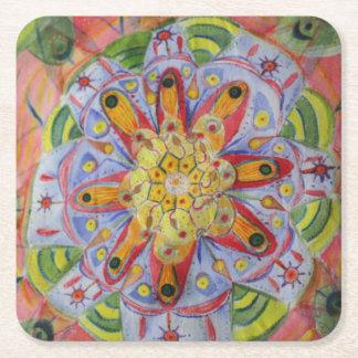Sacred Geometry Mandala Custom Square Coasters