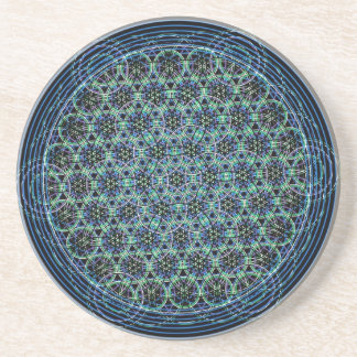 Sacred Geometry Mandala - Rain Flower of Life Coaster