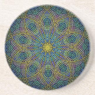 Sacred Geometry Mandala: Sincerity - Hand Drawn Sandstone Coaster