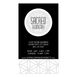 sacred geometry pack of standard business cards