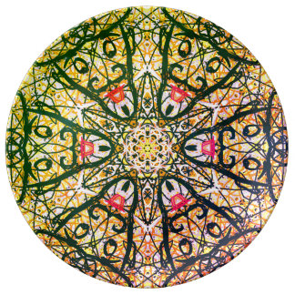 """Sacred Geometry """"Quijote"""" Porcelain Plate"""" By MAR Plate"""
