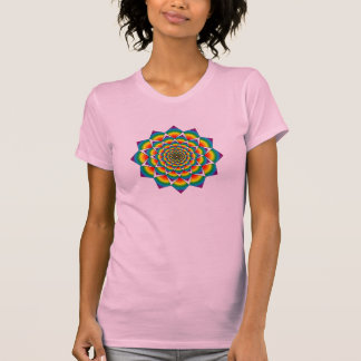 Sacred Geometry - Rainbow Mandala T-Shirt
